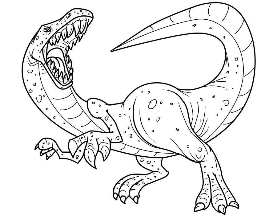 Раскраска онлайн для мальчиков динозавры