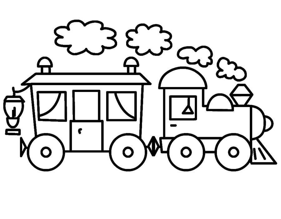 Раскраска паровозик скачать и распечатать
