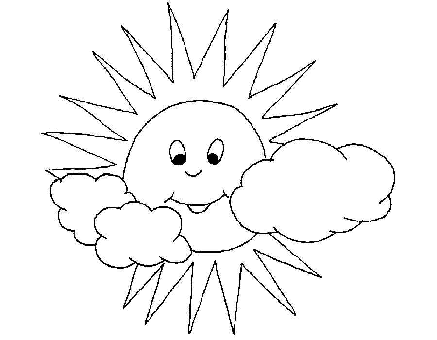 Солнышко раскраска для малышей - 9
