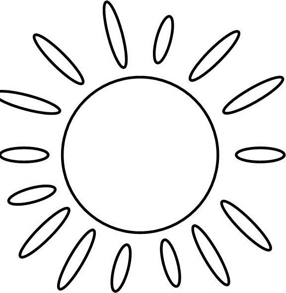 солнце раскраска картинки
