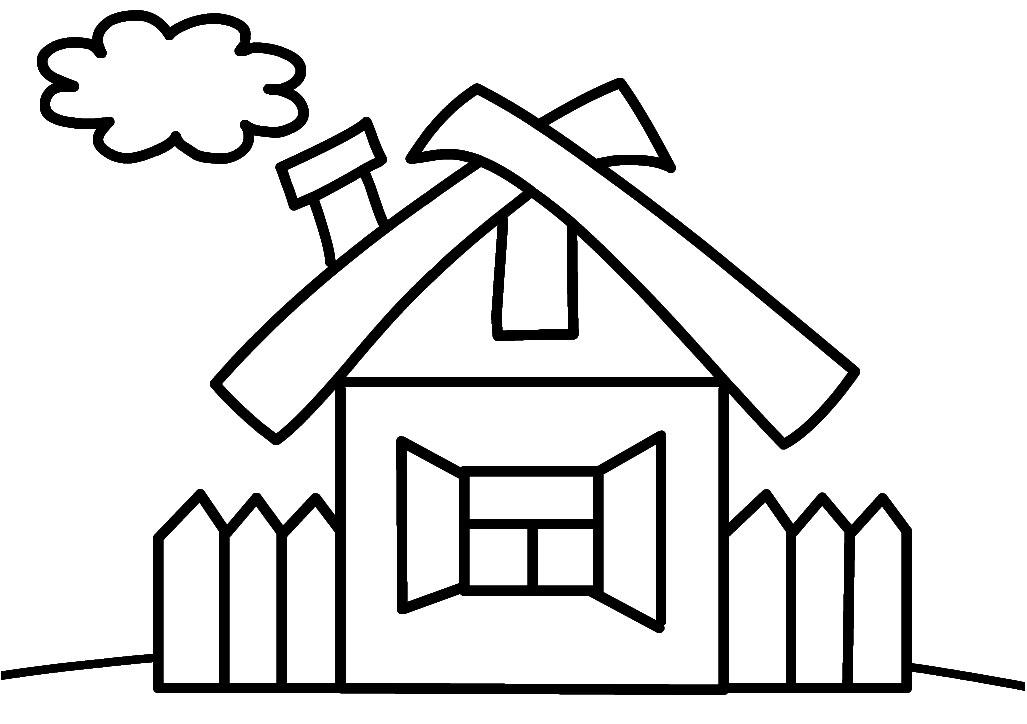 раскраска картинка дом