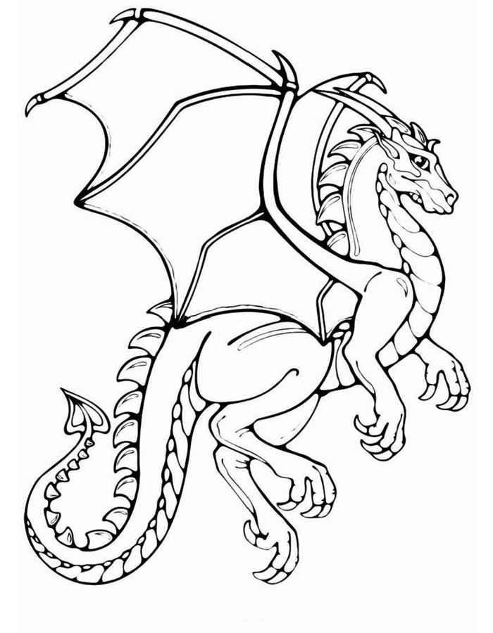Раскраска дракон скачать и распечатать