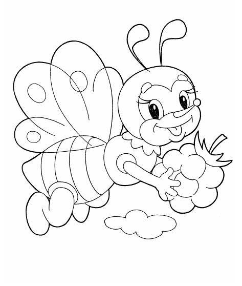 Раскраска пчёлку распечатать