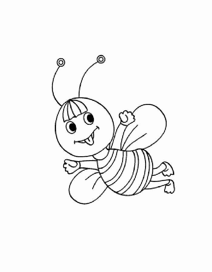 Раскраски пчелка с медом