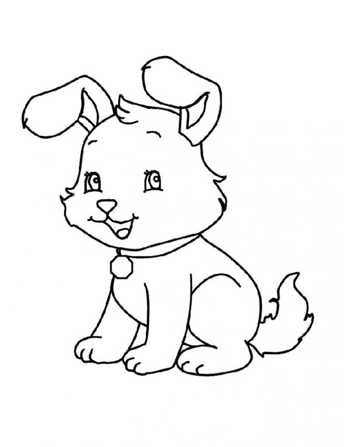 Раскраски для детей котенок гав