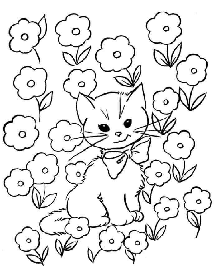 Раскраска кошки и котята скачать и распечатать