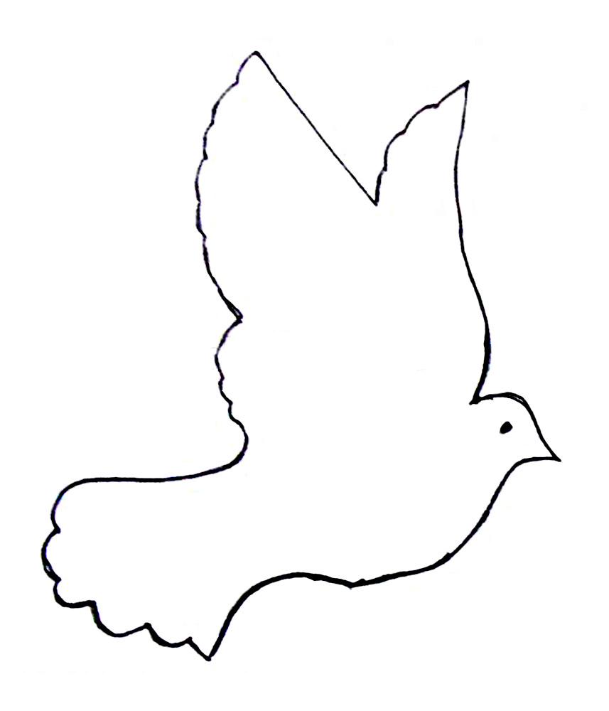 Раскраска голубь на 9 мая