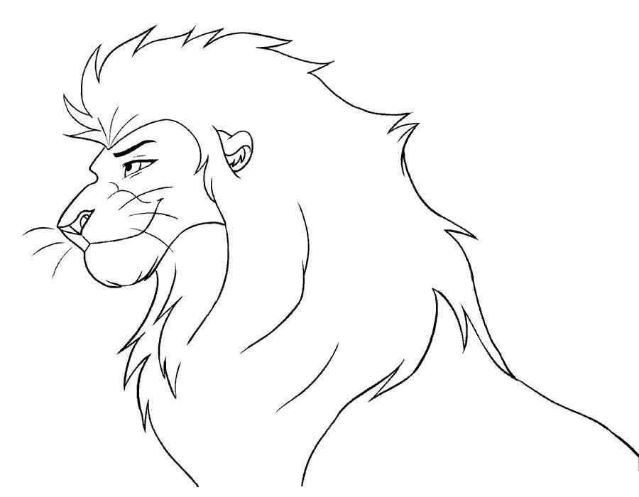 Раскраска лев скачать и распечатать