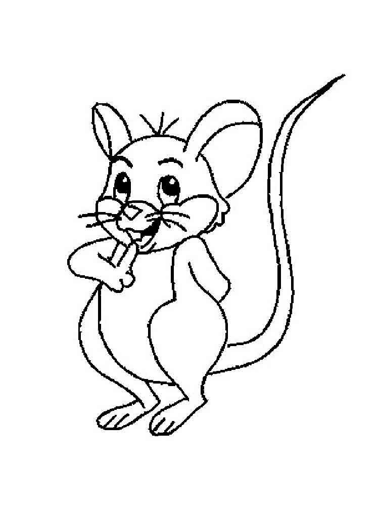 Раскраски одного мышонка