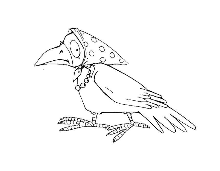 Раскраска вороны из сказок