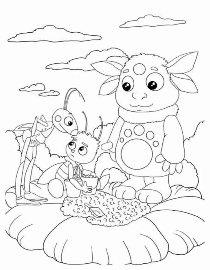 Лунтик и его друзья раскраска онлайн играть