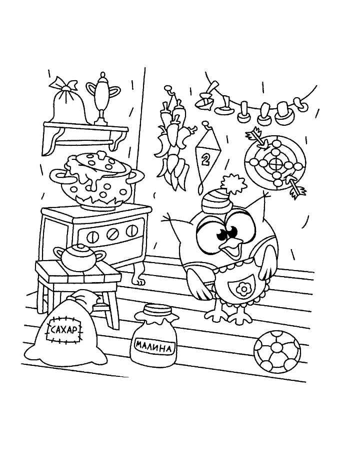 Смешарики раскраска распечатать - 9