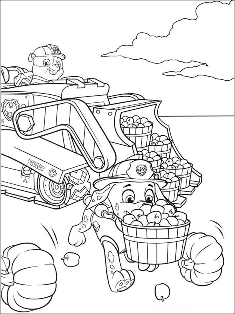 Раскраски для детей щенячий патруль распечатать бесплатно - 8