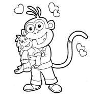 Раскраска обезьянка малышам