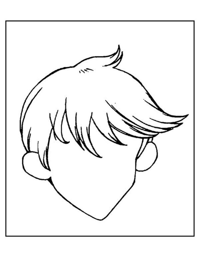 Портрет человека раскраски