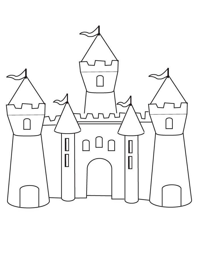 Раскраска замок скачать и распечатать