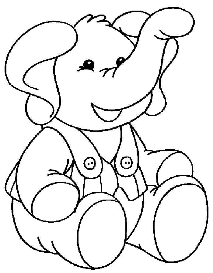 Secret Детские раскраски слон