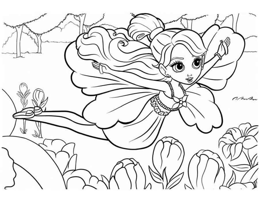 Распечатать раскраски для девочек 6 лет - 3