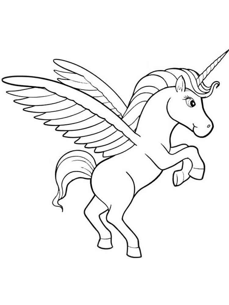 cute unicorn coloring pages