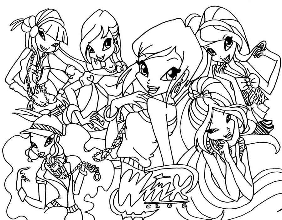 Раскраски для девочек принцессы все