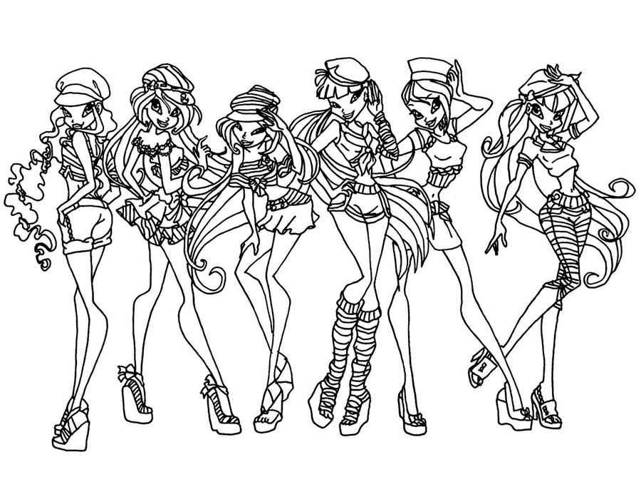 Раскраска для девочек винкс сиреникс - 5
