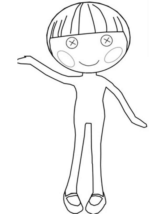 Лалалупси раскраска для детей распечатать
