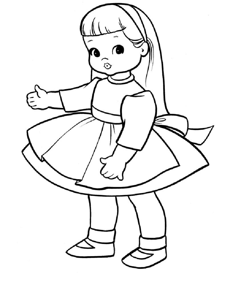 Кукла раскраски для детей