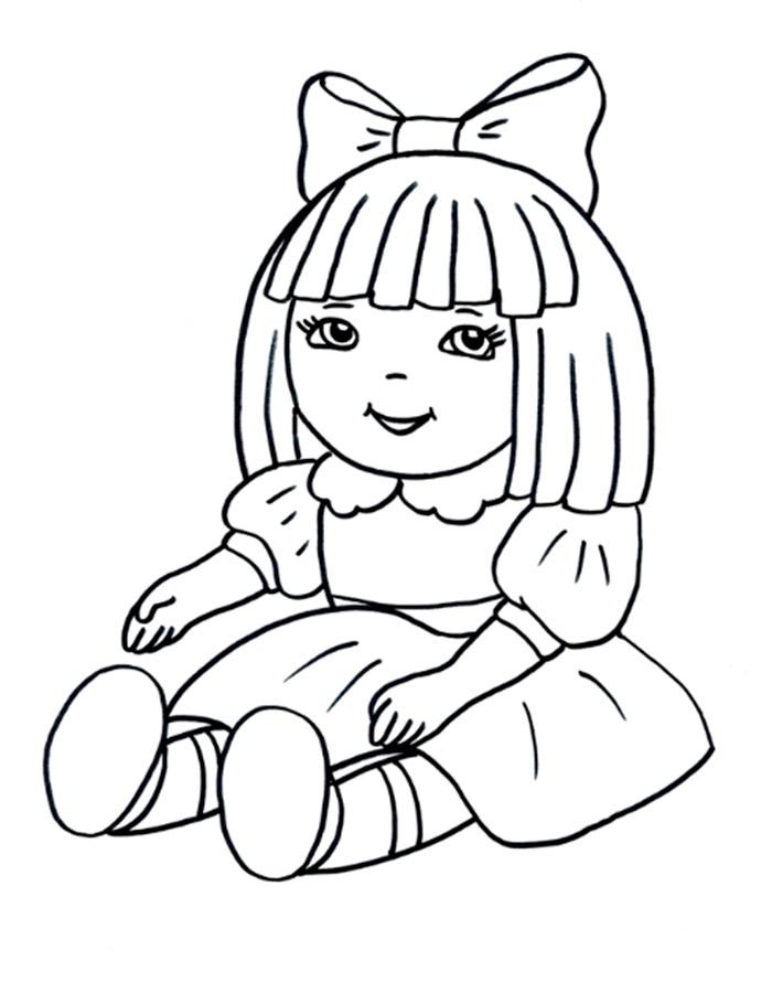 Кукла раскраска распечатать бесплатно 67
