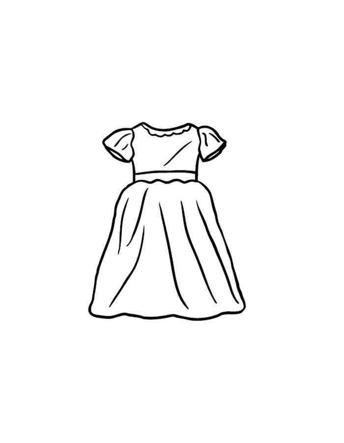Раскраска для малышей платье - 6