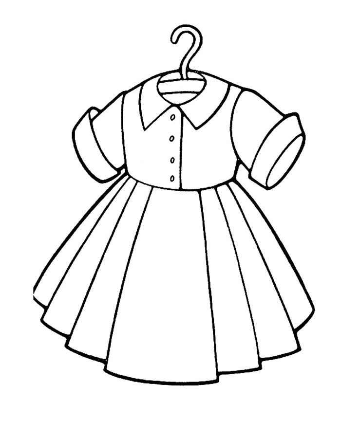 Раскраски для детей платье - 6