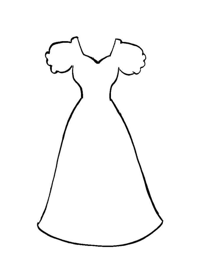 Раскраски платья онлайн