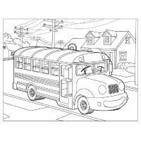 Раскраска автобус скачать и распечатать