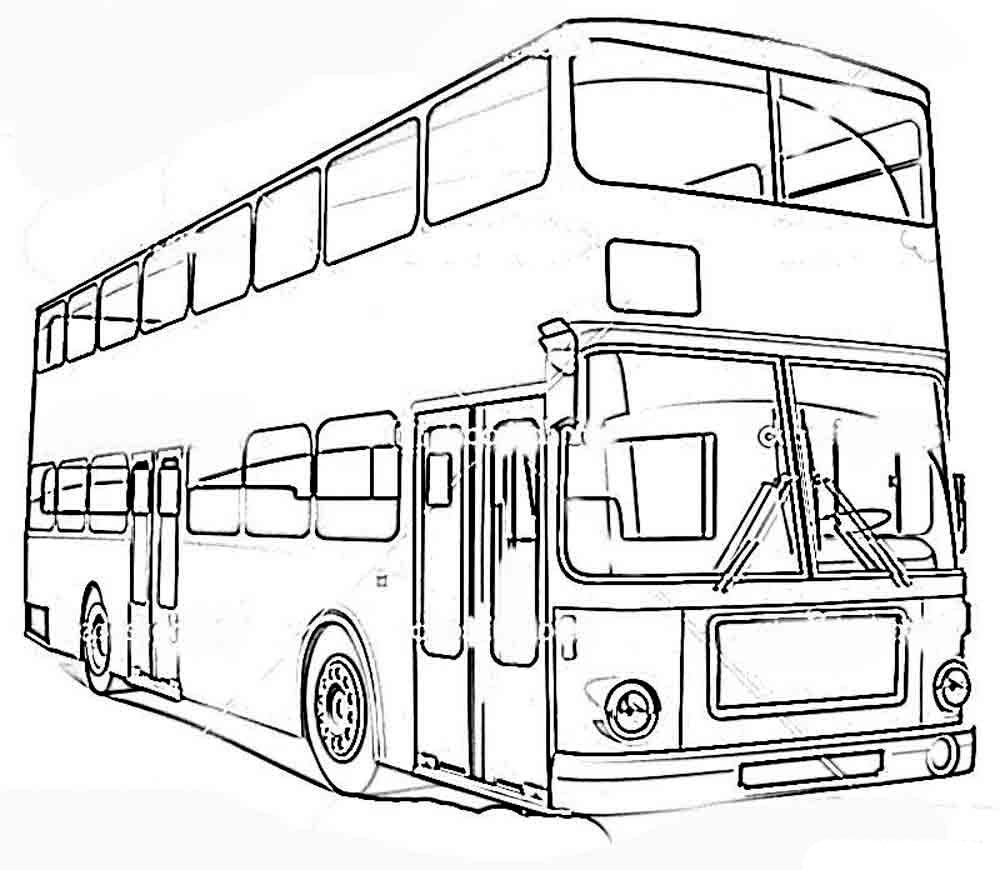 Раскраски автобус онлайн бесплатно