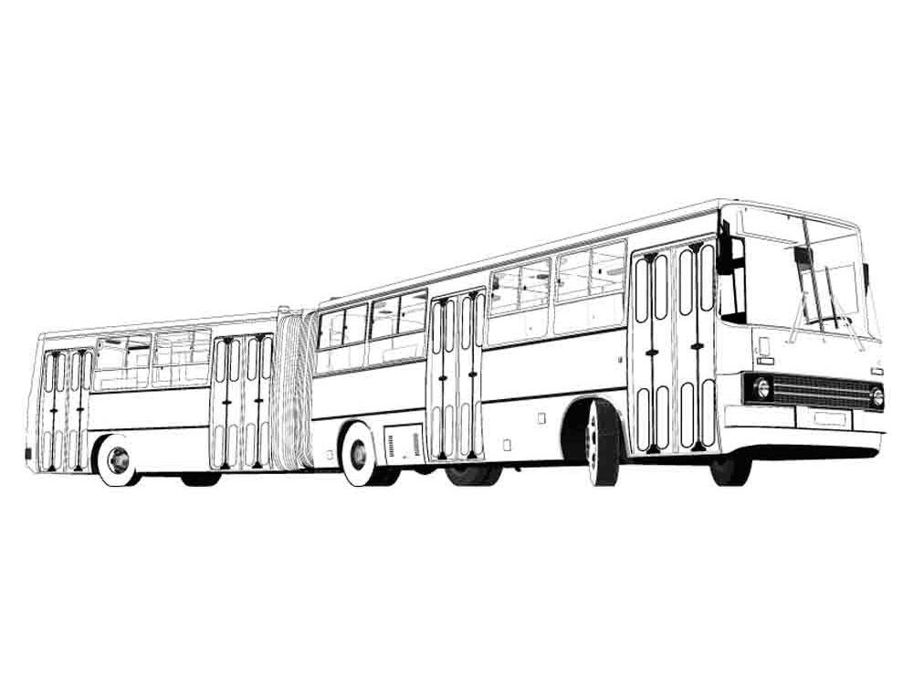 Раскраска для мальчиков автобусы