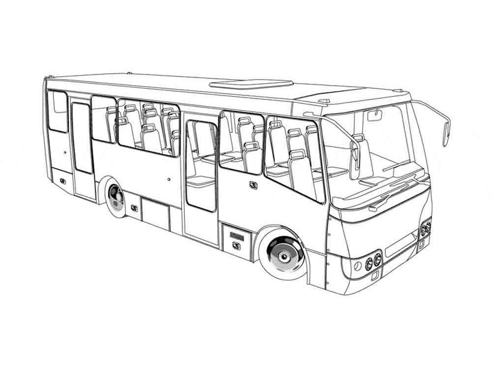Раскраска автобус - 9