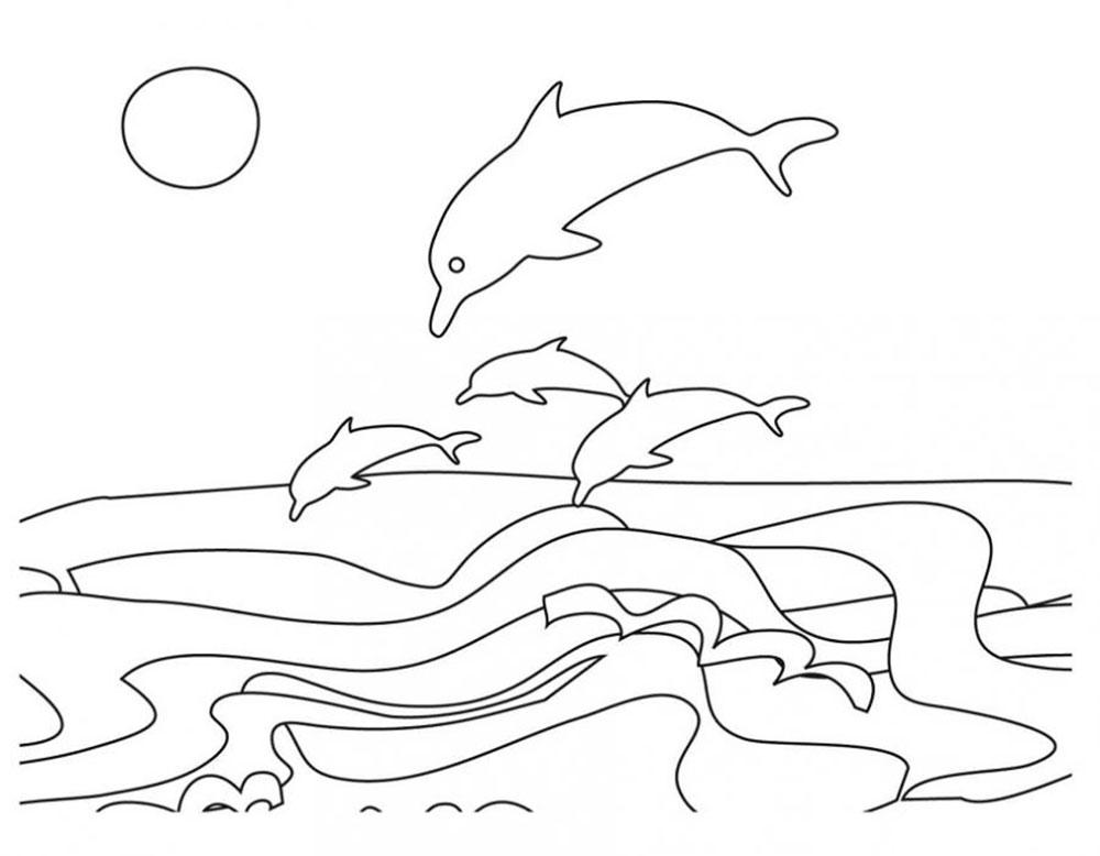 Днем, море картинки для детей нарисованные карандашом