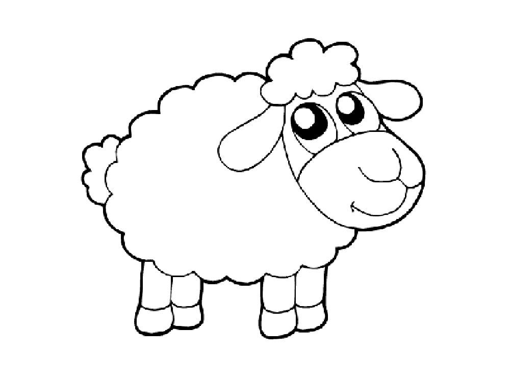 Раскраска год овца