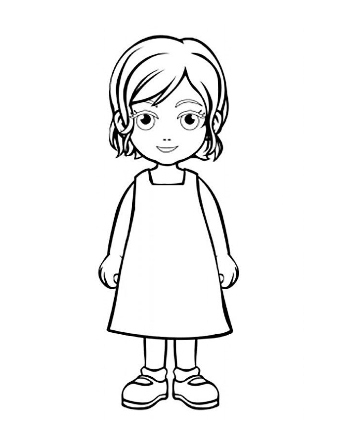 Картинки как нарисовать маленькую девочку