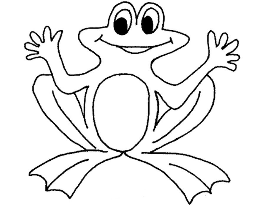 Раскраска лягушка скачать и распечатать