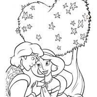 Раскраска принцесса Жасмин скачать и распечатать