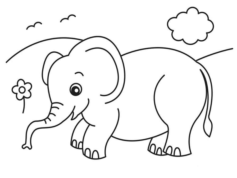 раскраска слоники распечатать картинки породе собак присущи