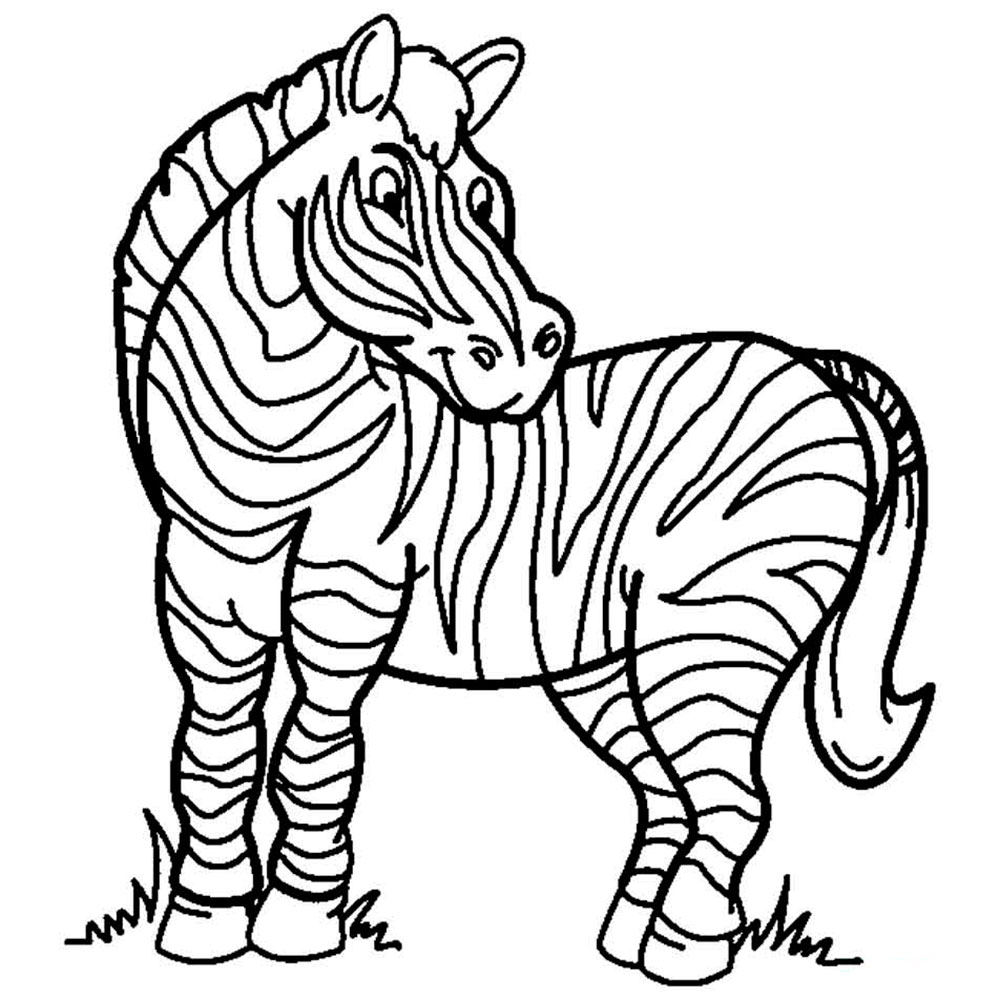 Дикие животные картинки для раскраски