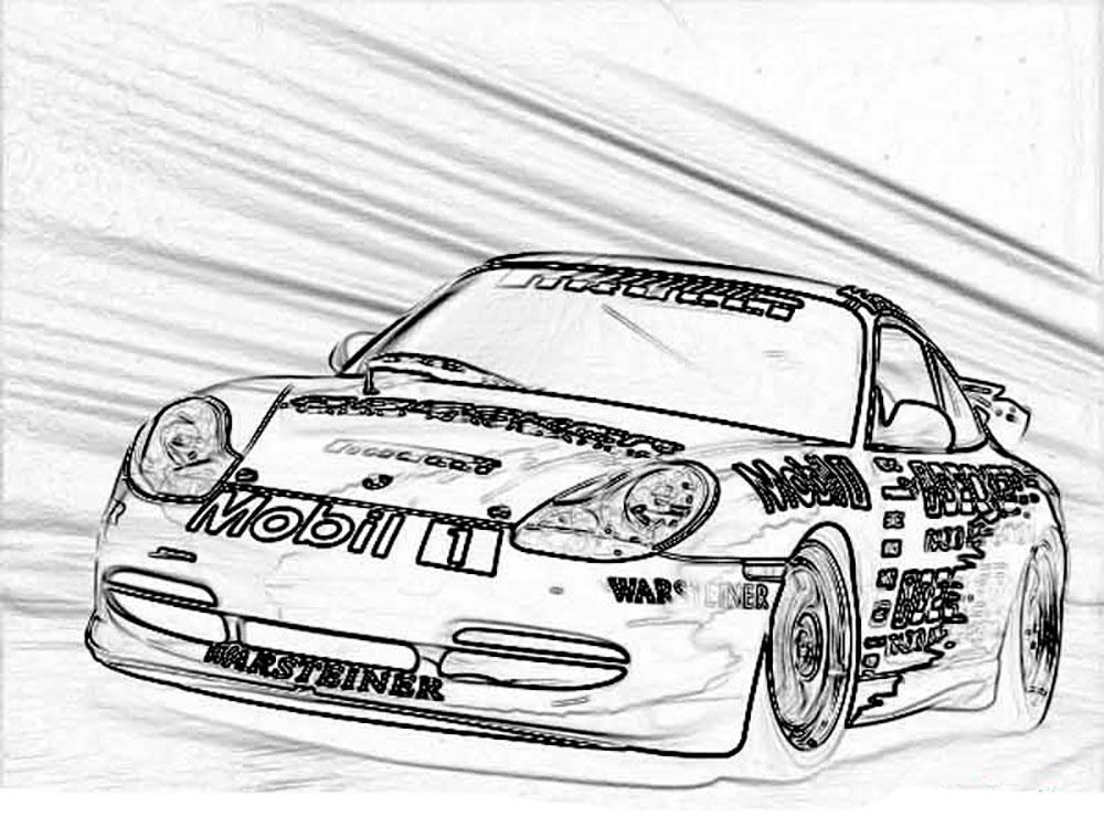 Картинки Онлайн раскраски гоночные машины 85