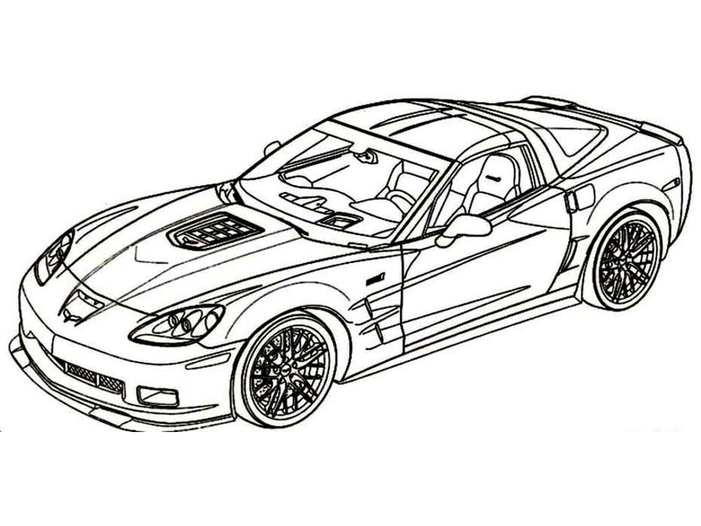Картинки гоночных машин из раскрасок