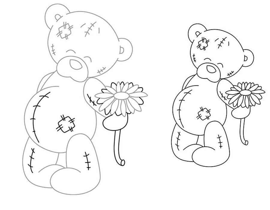 Что нарисовать мишку тедди поэтапно