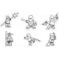 Раскраска Лего ниндзяго скачать и распечатать