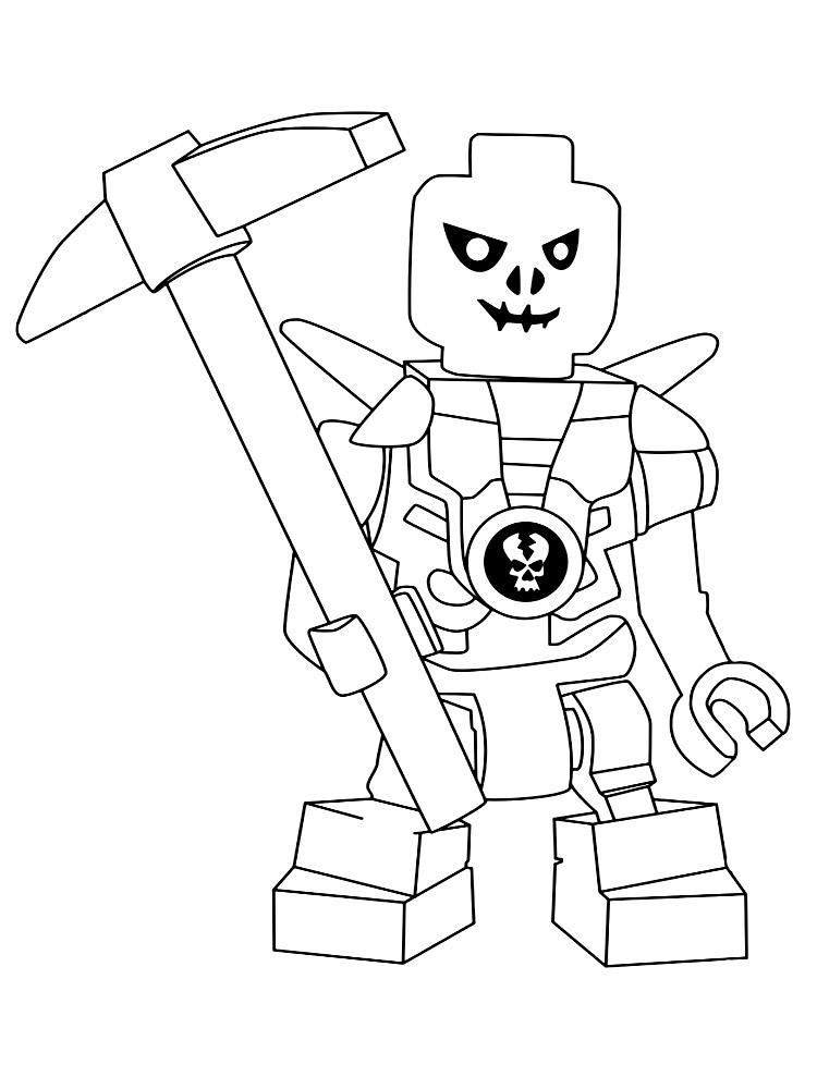 Лего ниндзя раскраски