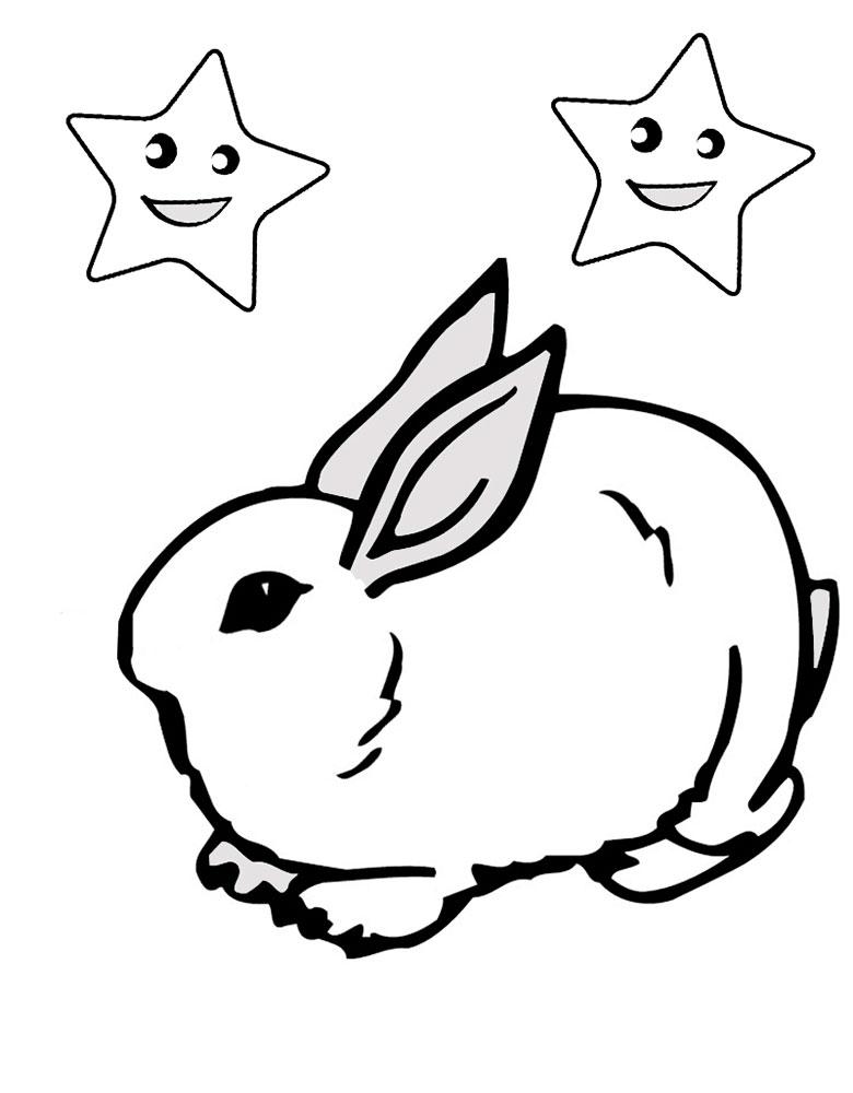 Раскраска кролик скачать и распечатать