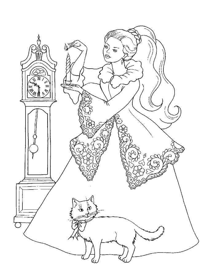 Раскраска для девочек разукрашивать - 8
