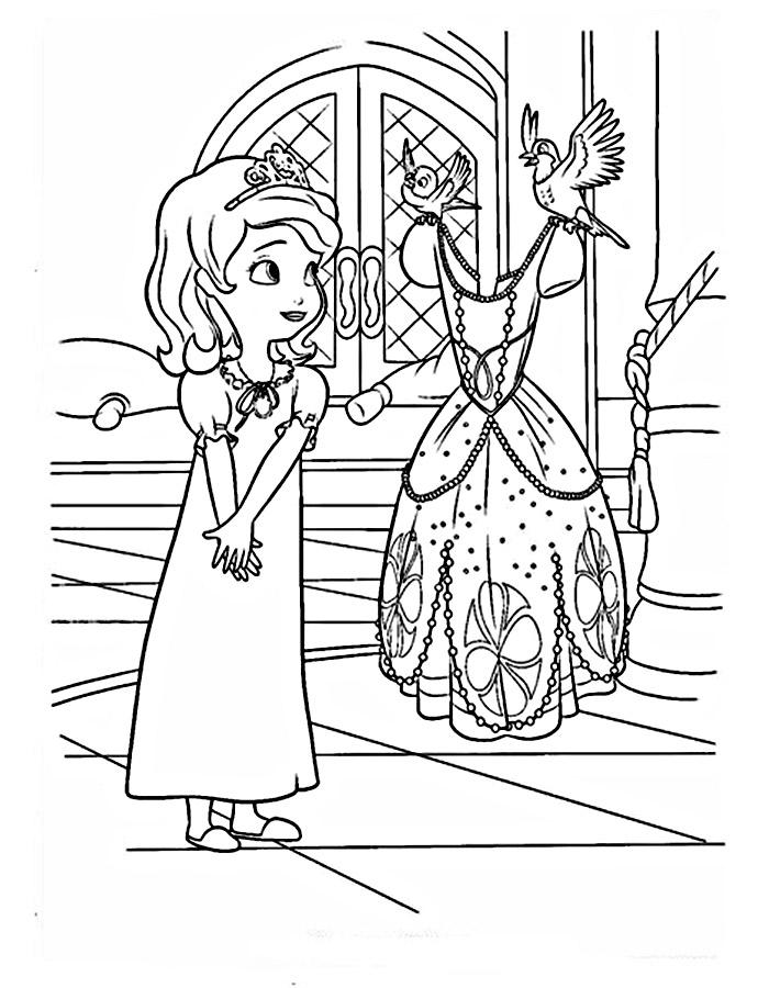 Раскраска для девочек принцессы - 9